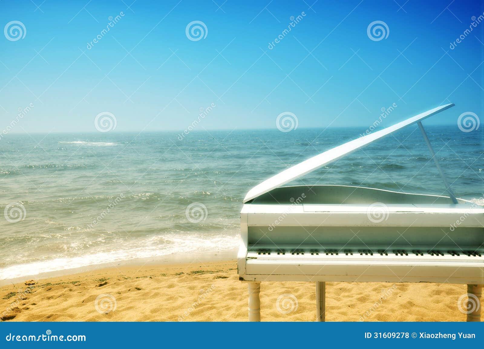 ... photography base in the scenery, seaside piano, romantic fantasy