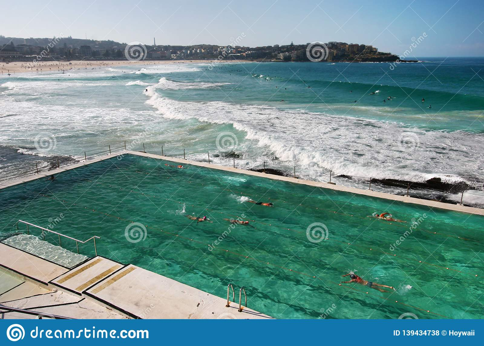 Seaside Public Iceberg Club Swimming Pool. Idyllic And ...