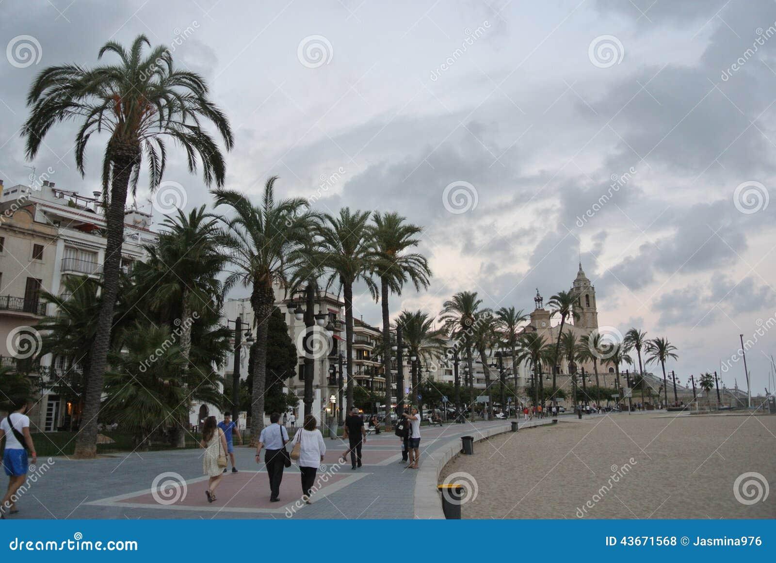 Seaside resort Sitges on Costa Dorada, Spain