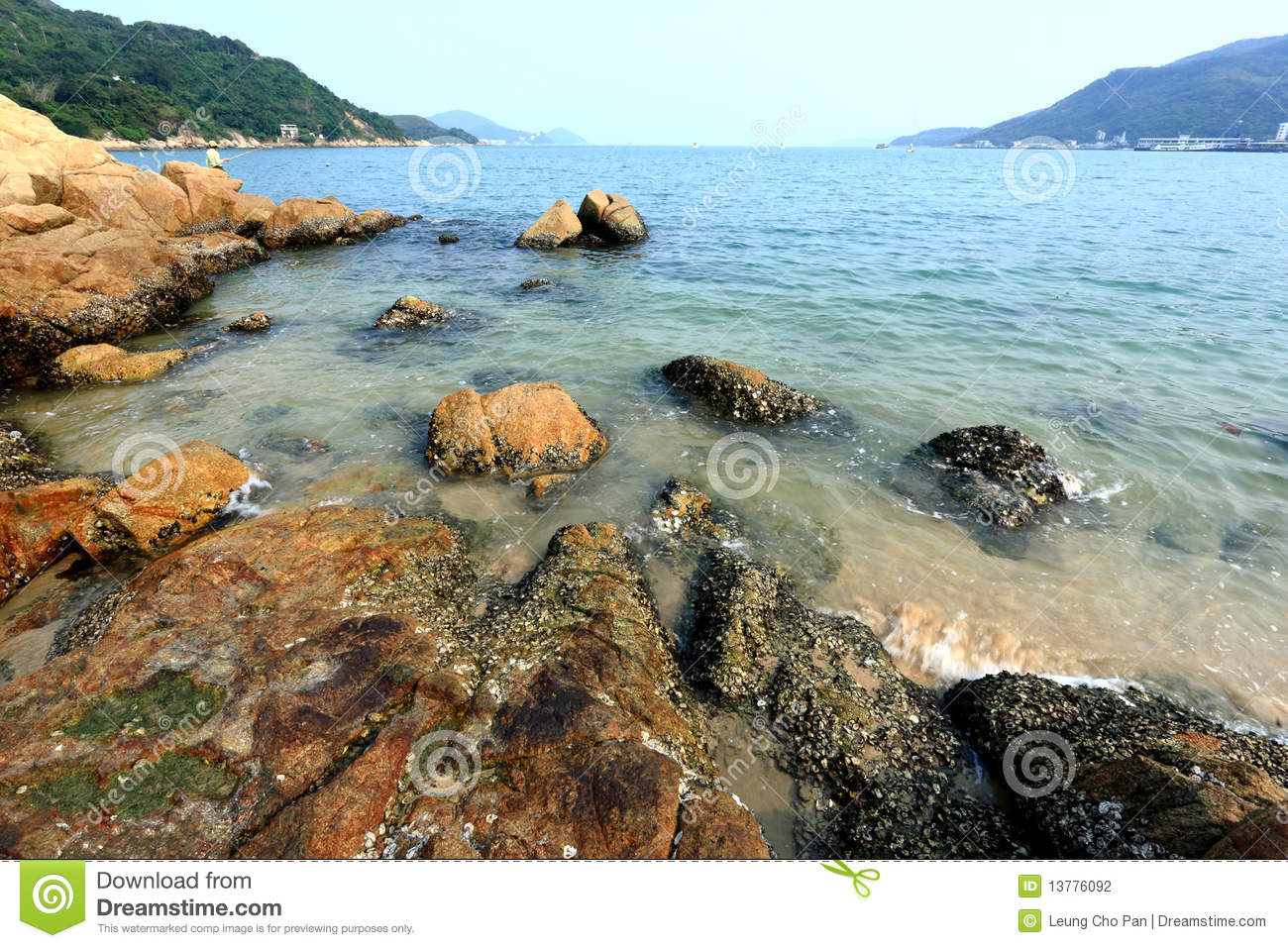 Seaside with rock