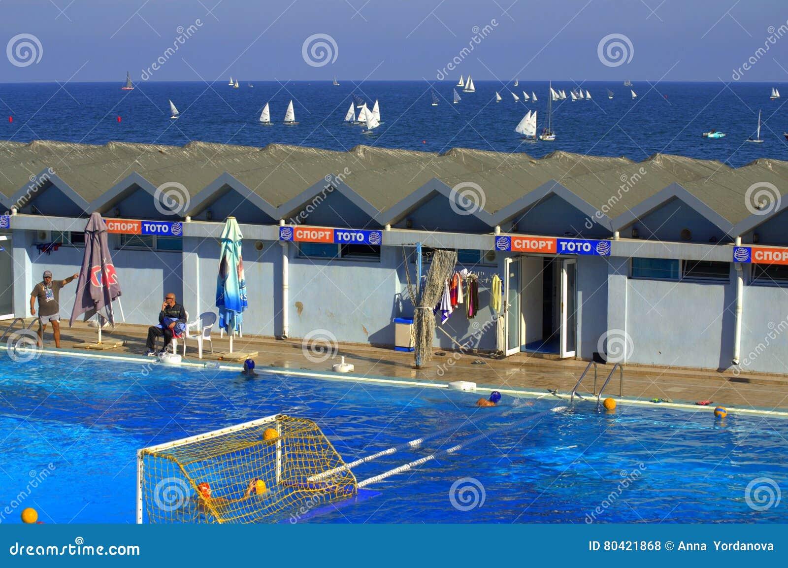 Seaside Sport Swimming Pool Editorial Stock Photo - Image of ...