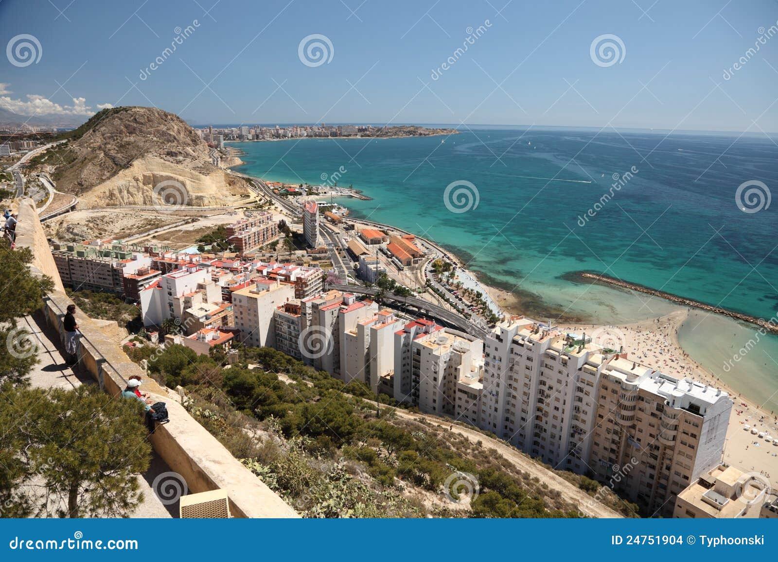 Seaside view of alicante spain editorial stock image image 24751904 - Stock uno alicante ...