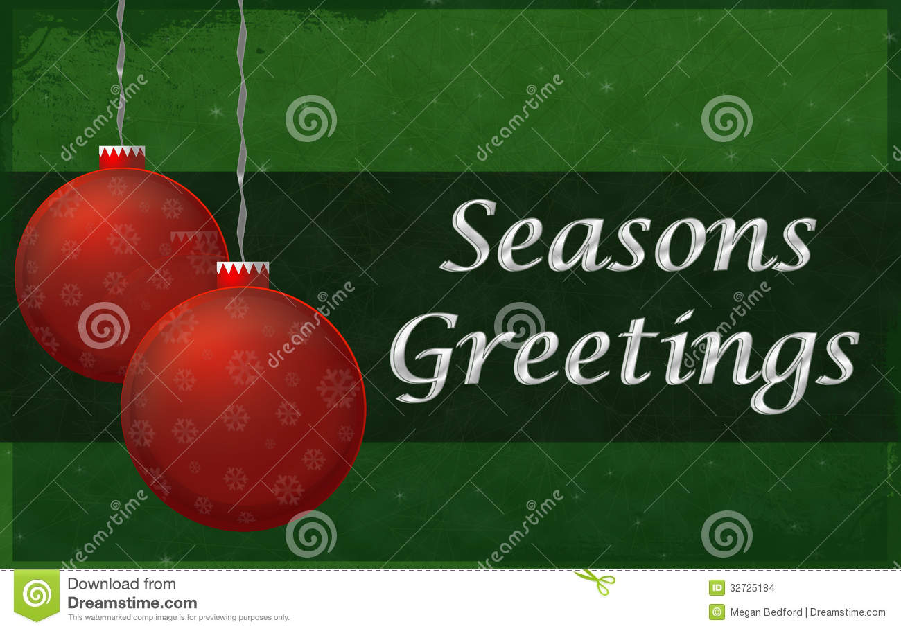 Season Greetings Sign Stock Illustration Illustration Of Greet