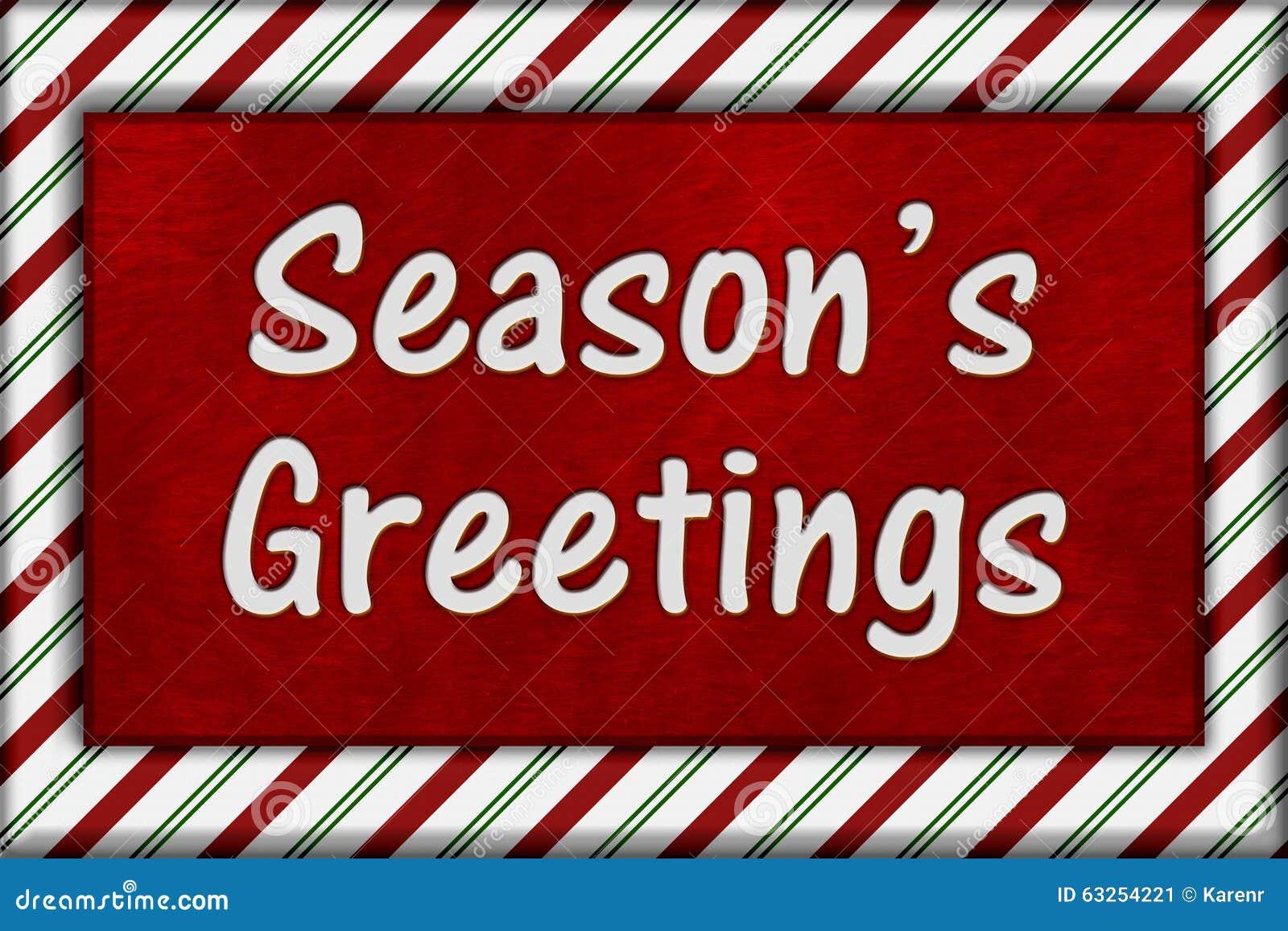 Seasons Greetings Message Stock Image Image Of Frame 63254221