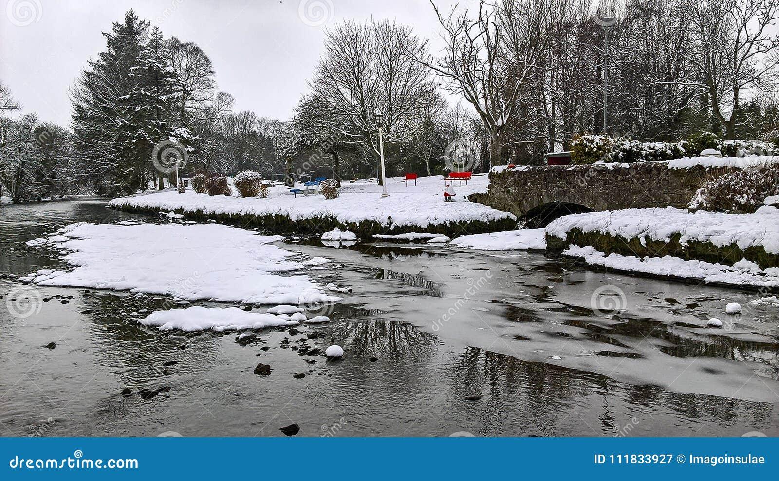 Season. Winter. Landscapes of water