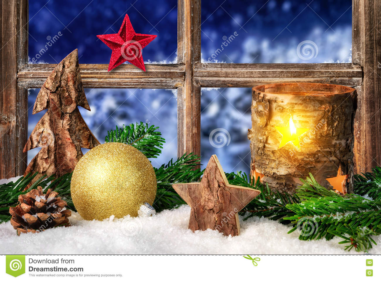 Download Seasonal Arrangement On The Window Sill Stock Image - Image of cool, evening: 78817407
