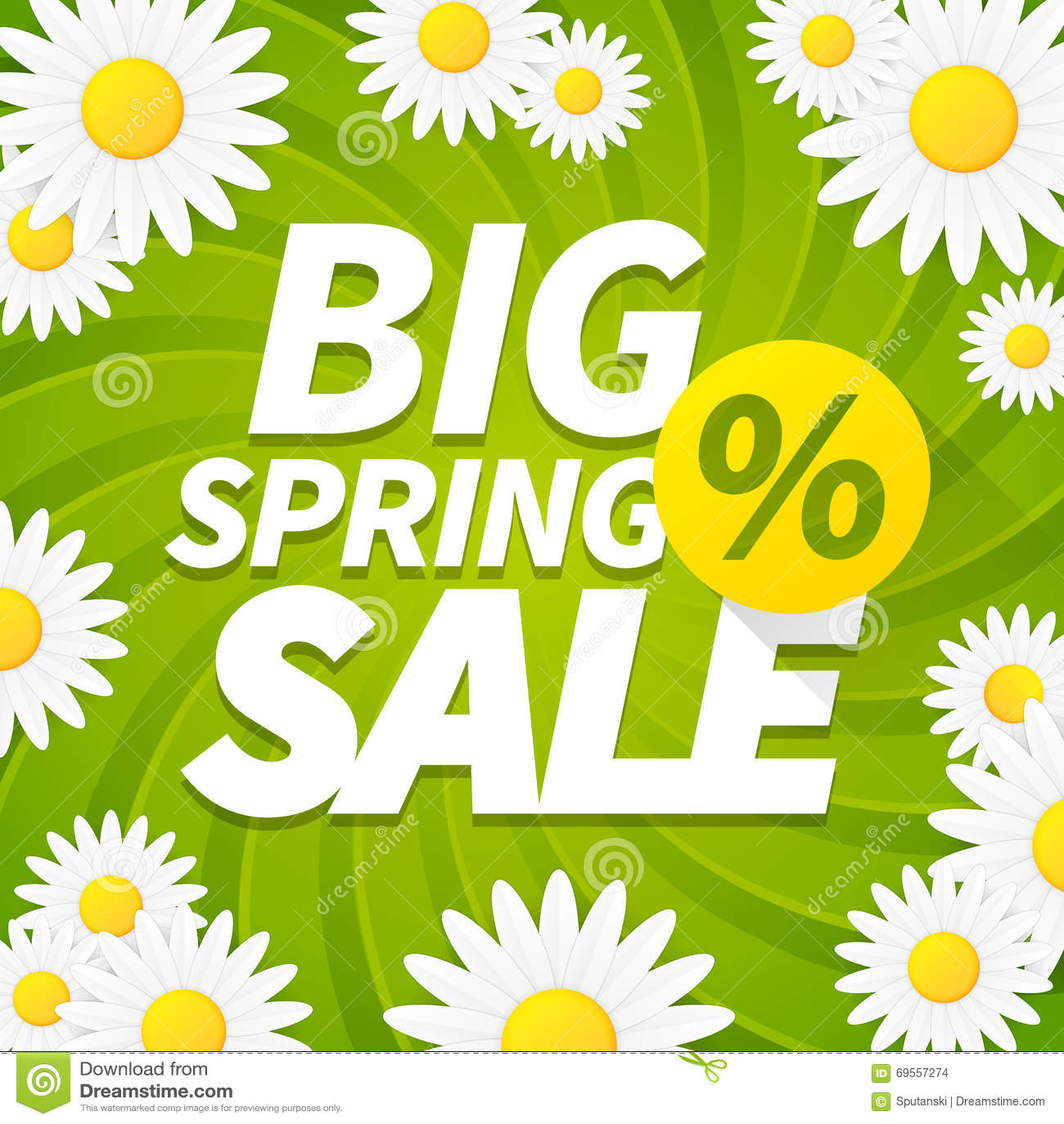 Seasonal big spring sales business background