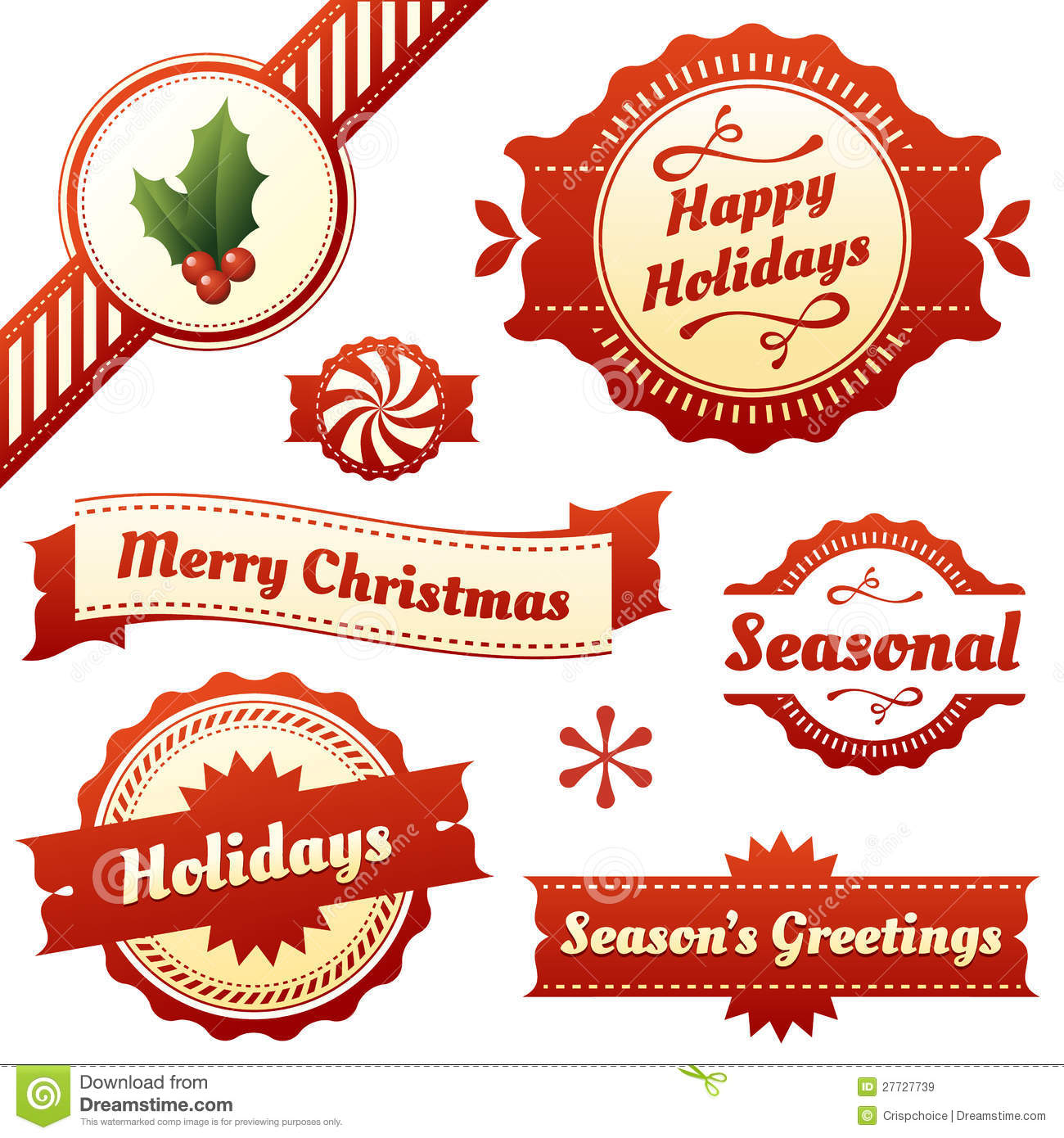 Seasonal labels tags and banners for holidays stock vector seasonal labels tags and banners for holidays kristyandbryce Choice Image
