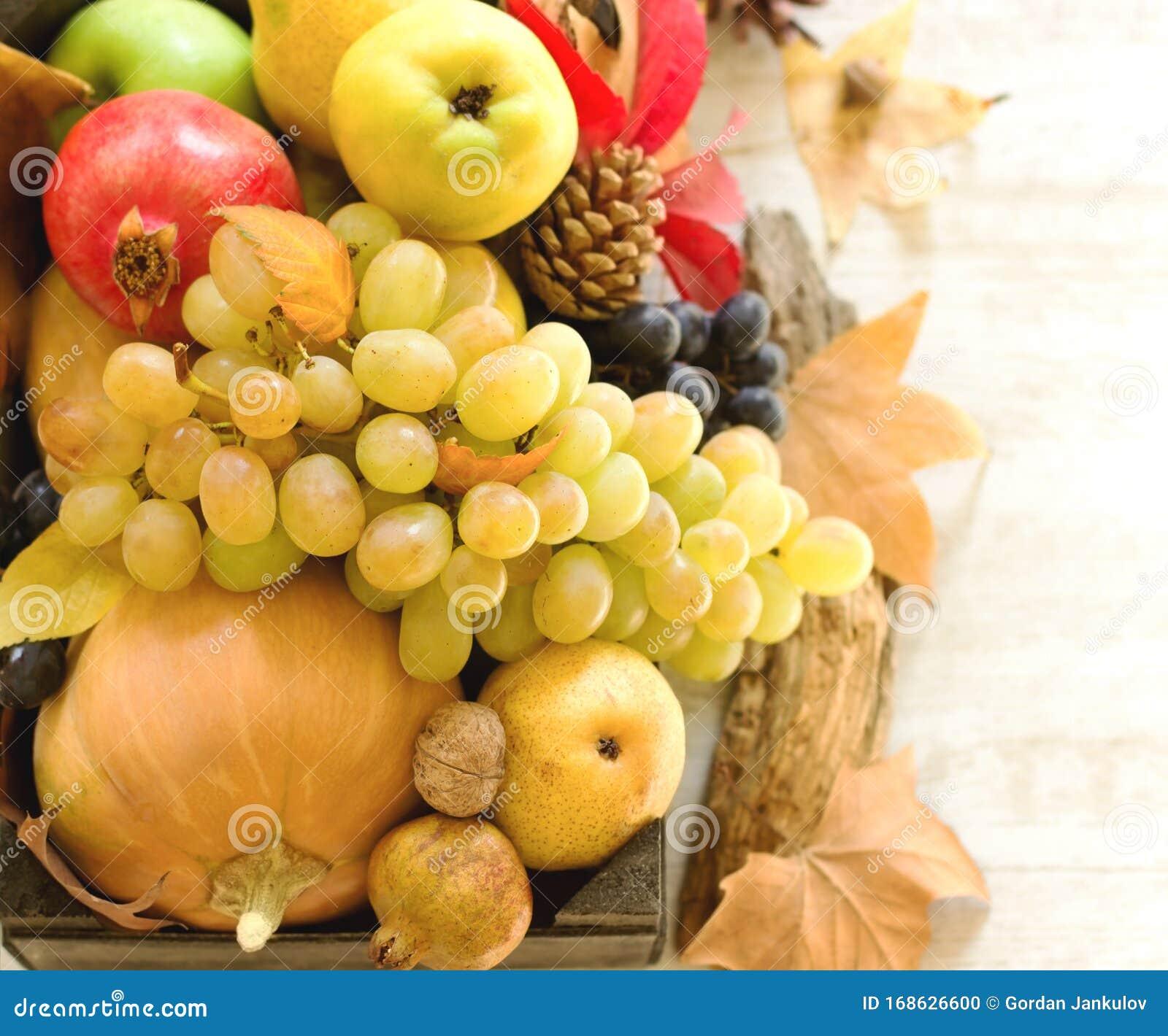 Seasonal Organic Fruit And Vegetable In Crate Closeup Stock Photo Image Of Season Closeup 168626600