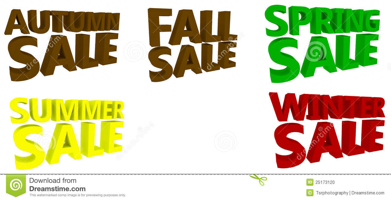 fall summer spring winter sale banner isolated  vector