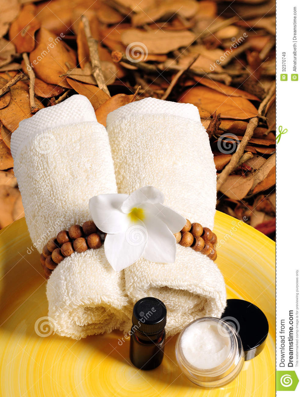 Seasonal Spa Products In The Fall Or Autumn Stock Image