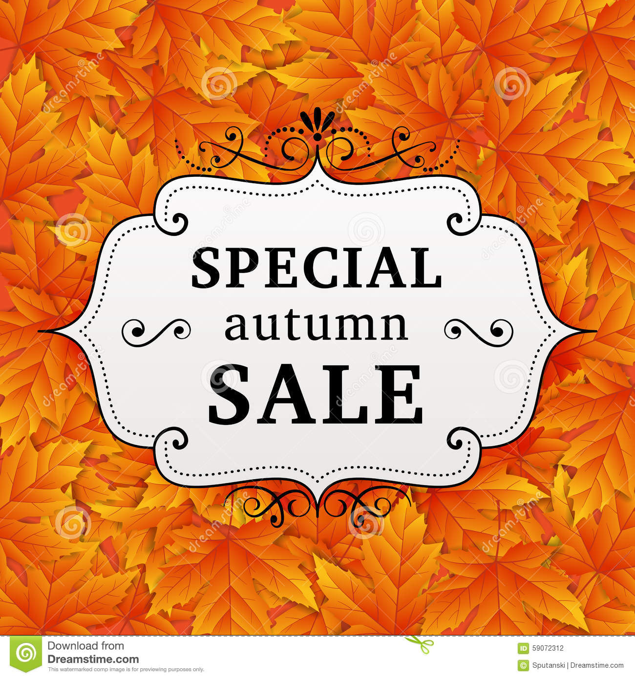 70cb3bbd68b Seasonal special autumn sale business background with colored leafs.