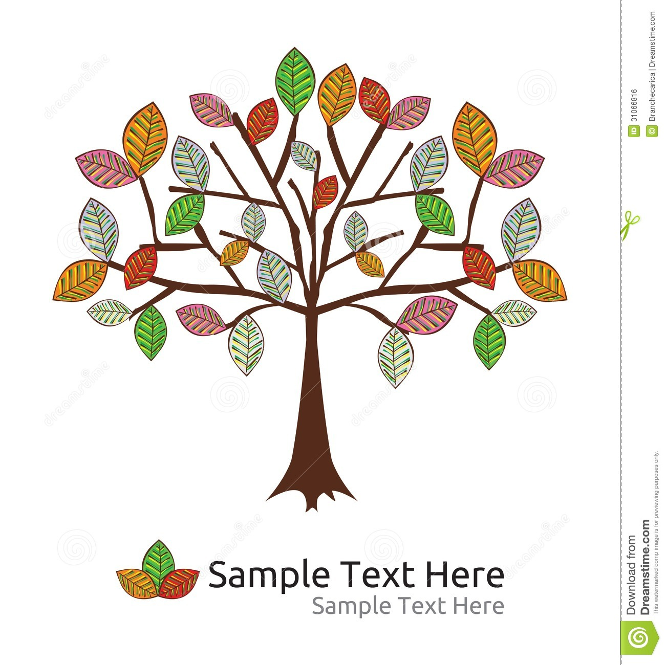 seasonal tree autumn template stock vector illustration of autumn