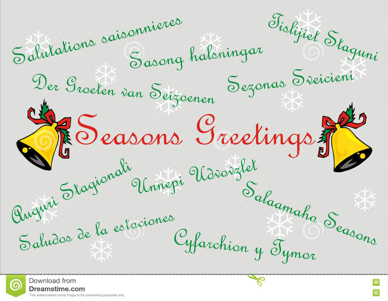 Seasons greetings banner card multi languages stock seasons greetings banner card multi languages kristyandbryce Image collections