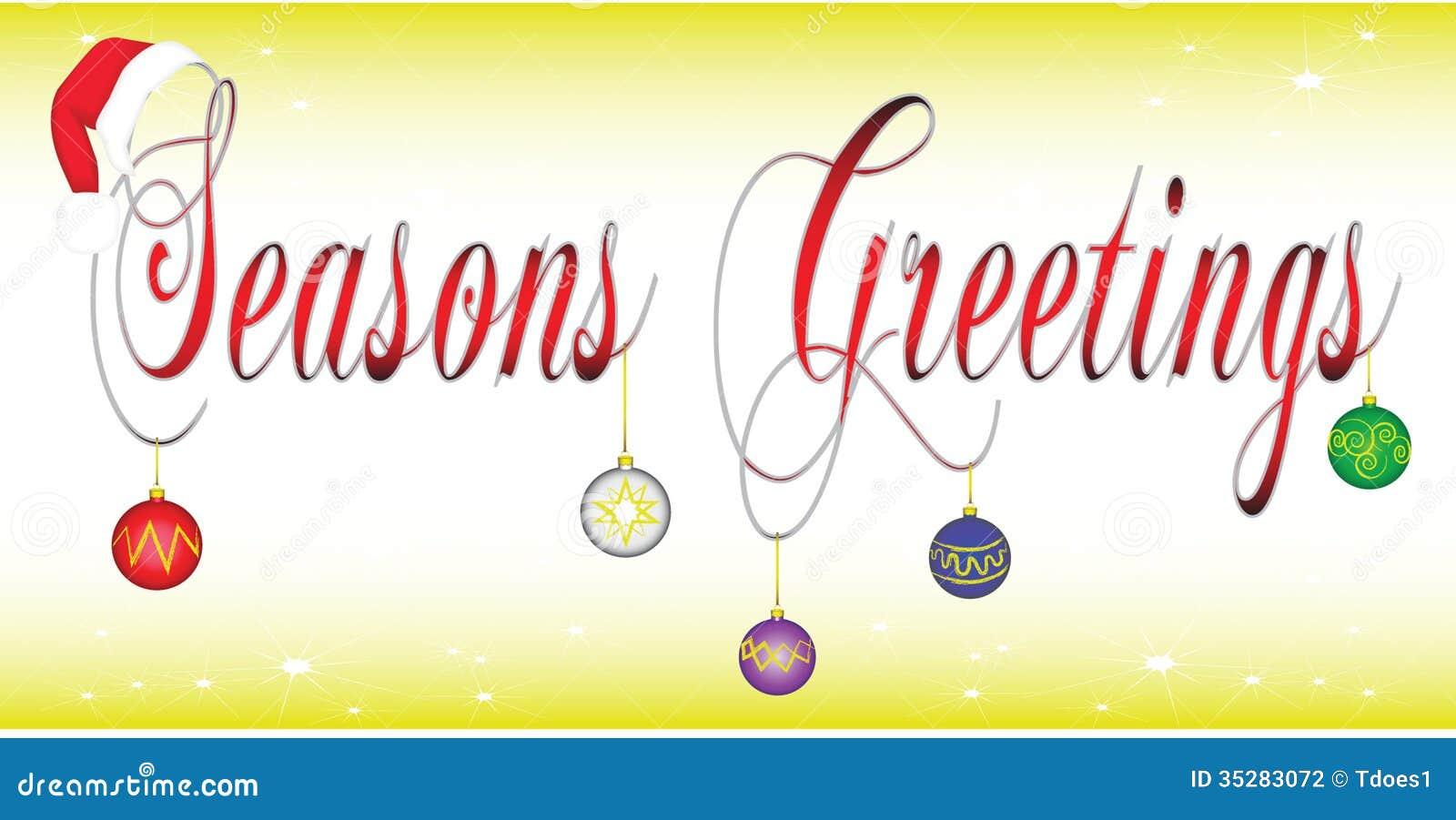 Seasons greetings banner stock vector illustration of purple 35283072 seasons greetings banner kristyandbryce Images