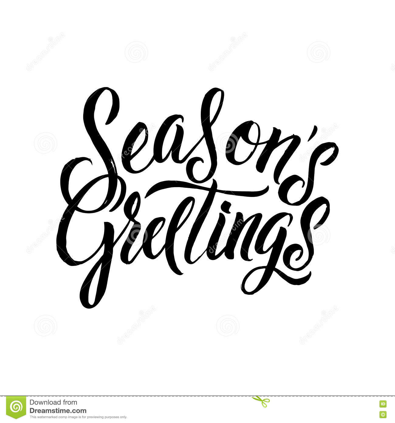 Seasons greetings calligraphy greeting card black typography on download comp m4hsunfo