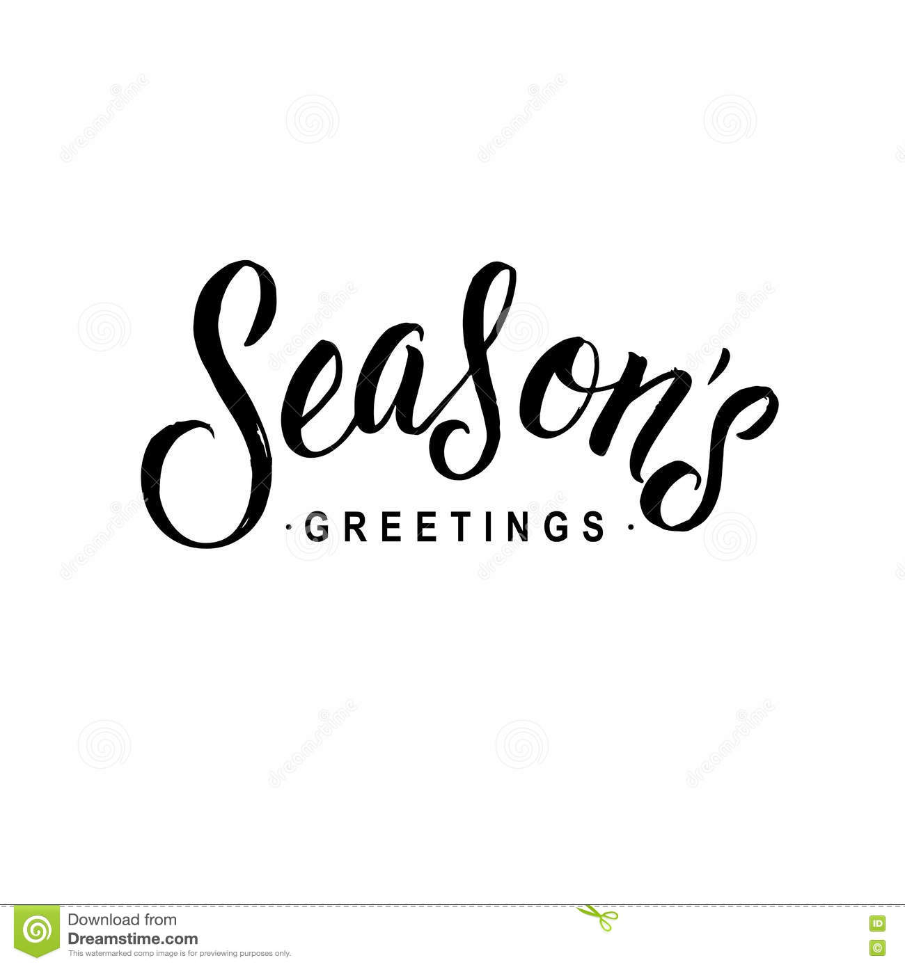 Seasons greetings calligraphy greeting card typography on seasons greetings calligraphy greeting card typography on background m4hsunfo
