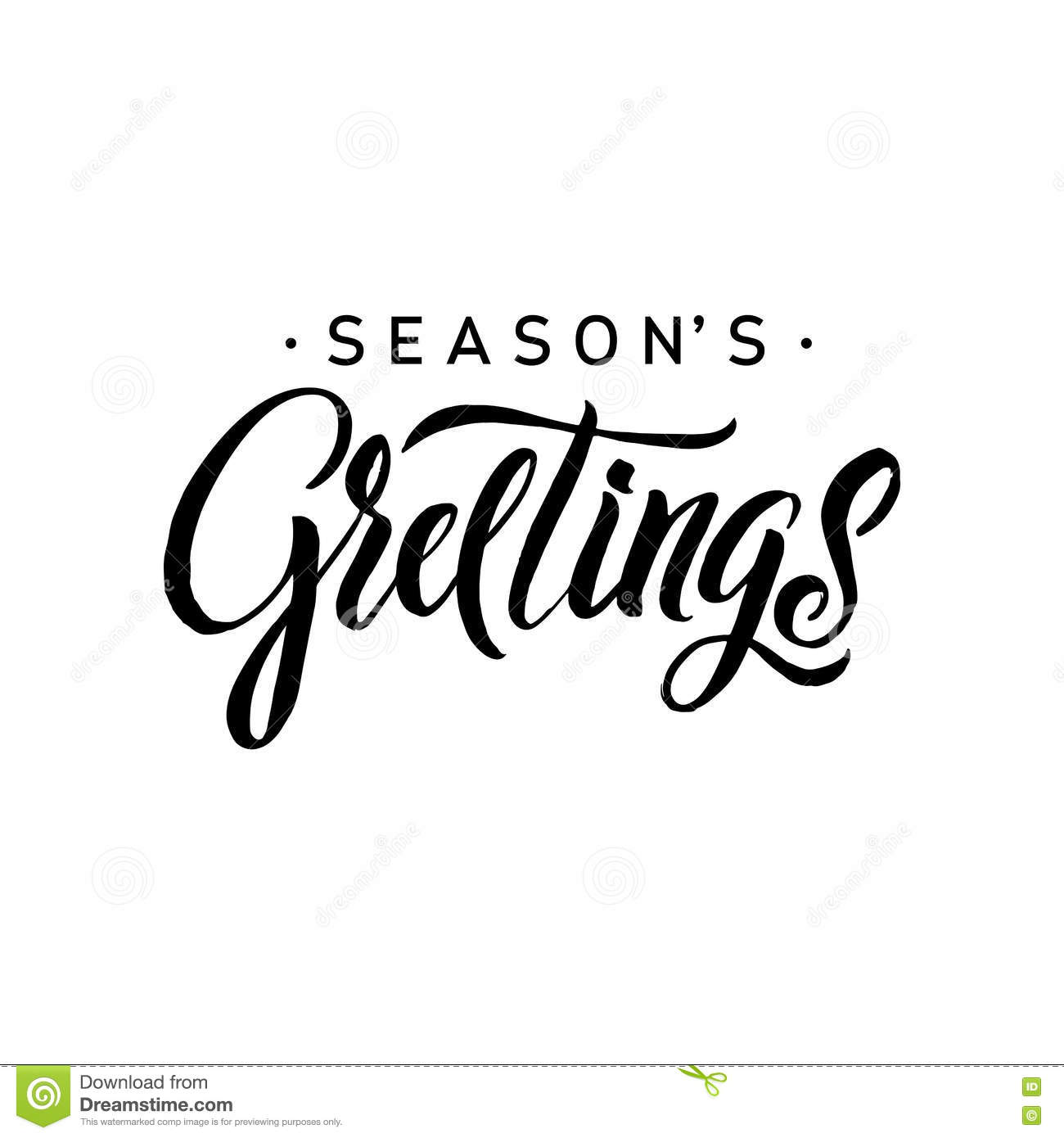 Seasons greetings calligraphy greeting card typography on seasons greetings calligraphy greeting card typography on background inscription banner kristyandbryce Choice Image