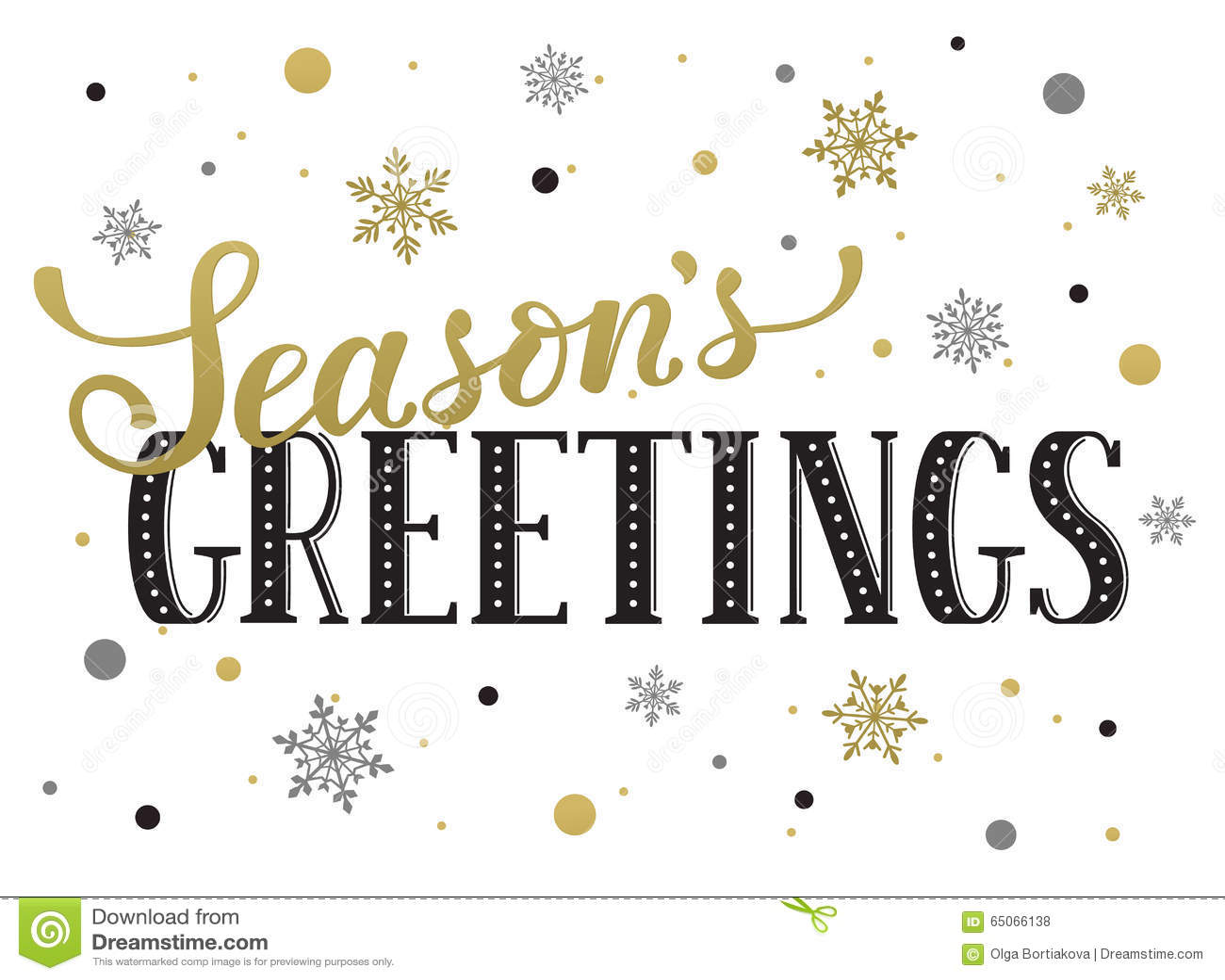 Seasons Greetings Card Stock Vector Illustration Of Postcard 65066138