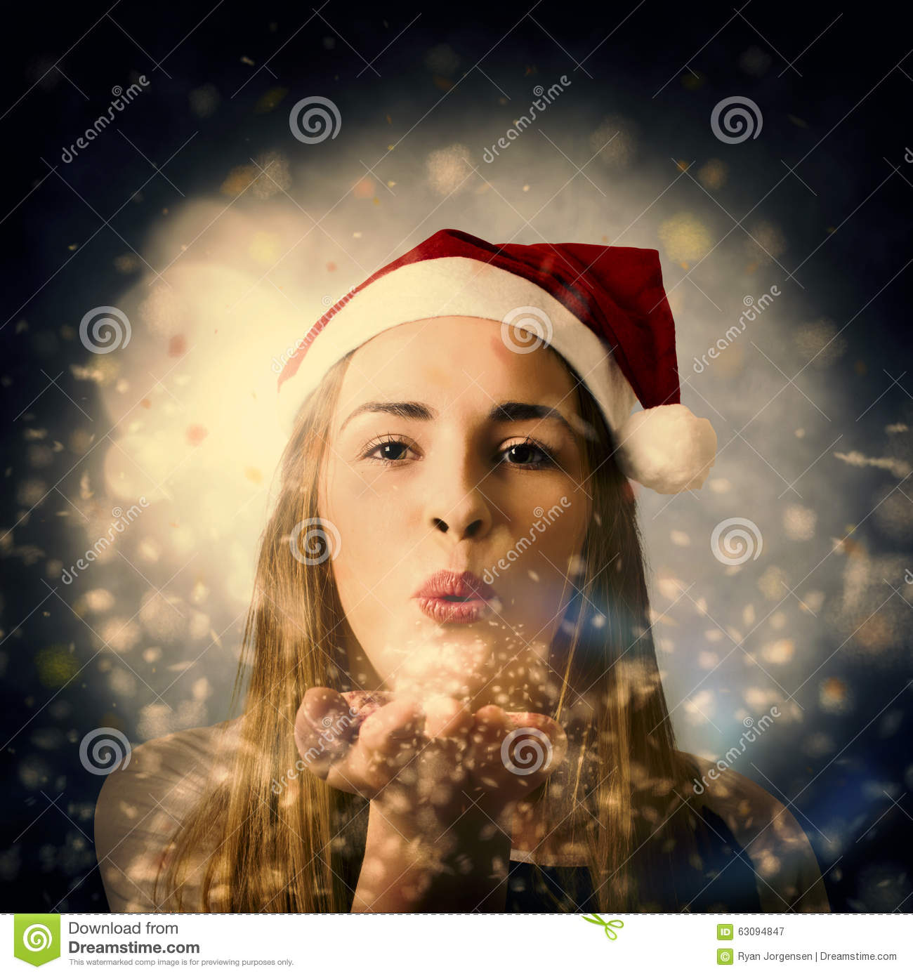 seasons greetings girl stock image  image of festive