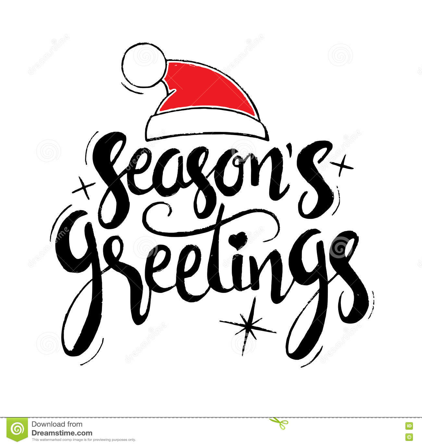 Seasons greetings hand drawn lettering stock vector illustration seasons greetings hand drawn lettering m4hsunfo