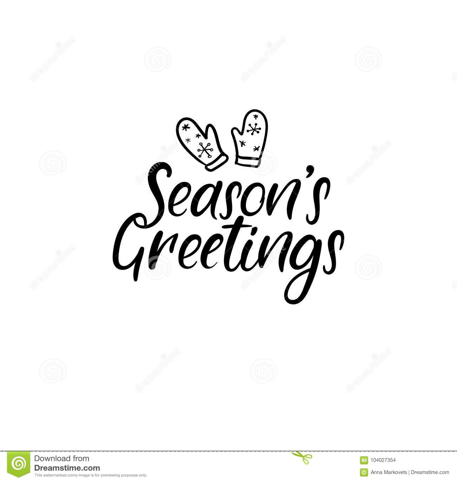 Seasons greetings hand lettering greeting card vector modern seasons greetings hand lettering greeting card vector modern calligraphy m4hsunfo