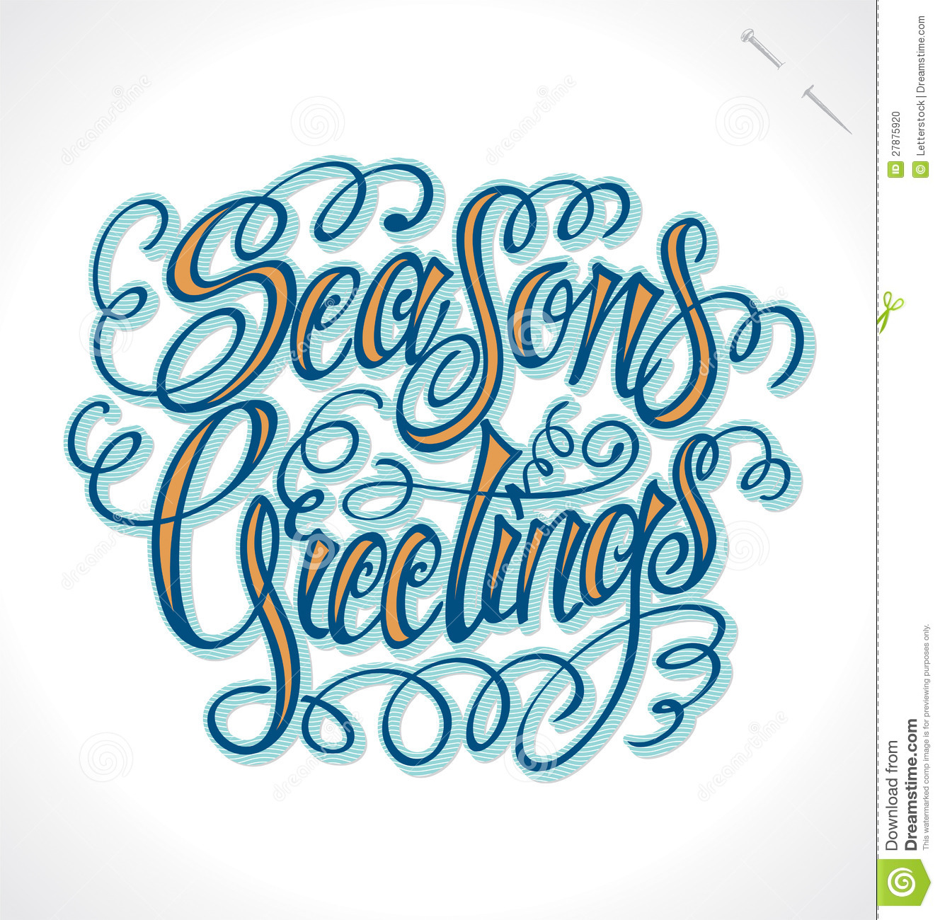 Seasons greetings hand lettering vector stock vector seasons greetings hand lettering vector m4hsunfo