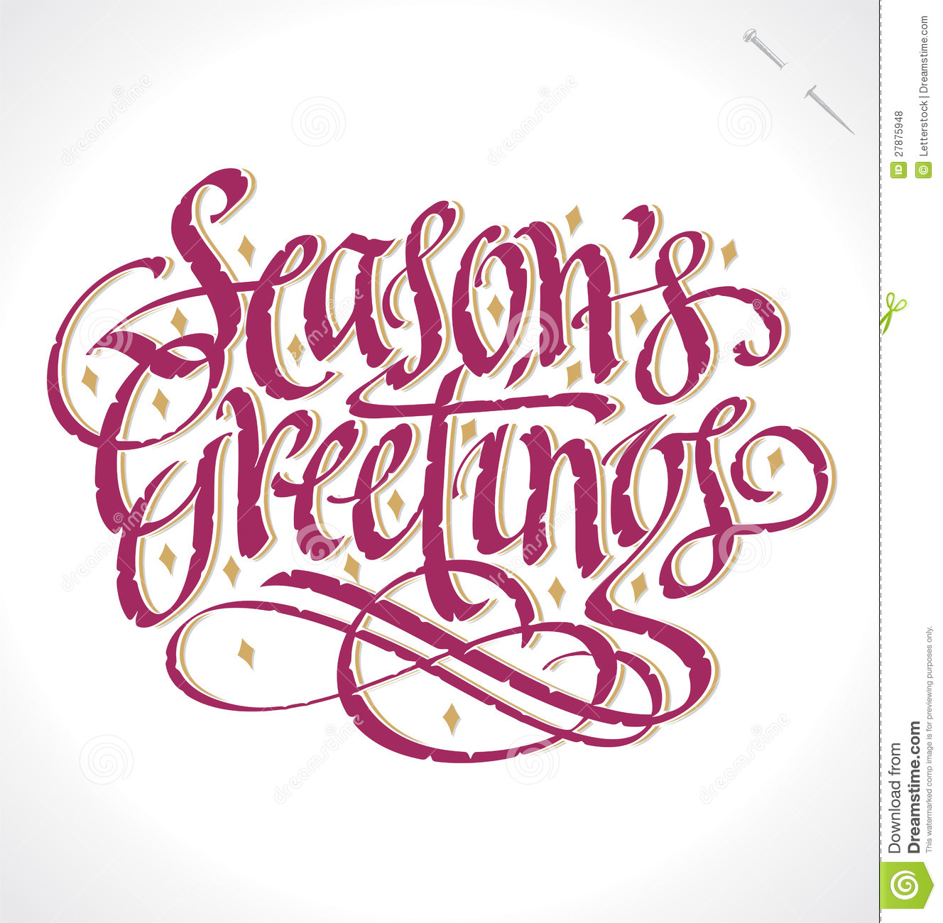Seasons greetings hand lettering vector stock vector download comp m4hsunfo