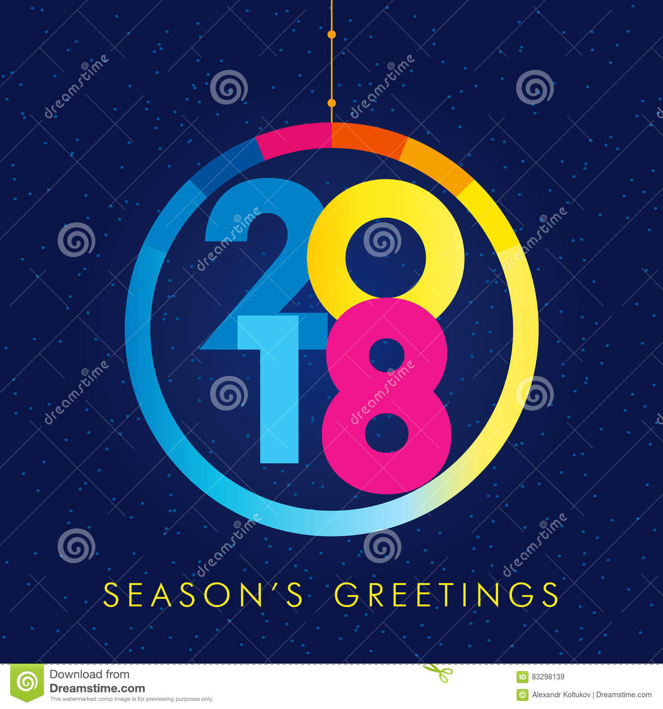 2018 seasons greetings happy new year card
