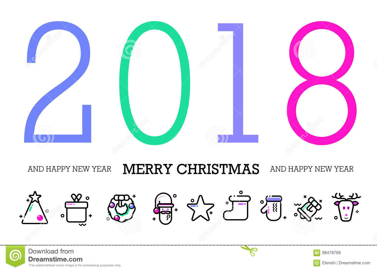 Seasons greetings happy new year 2018 colorful contemporary seasons greetings happy new year 2018 colorful contemporary abstraction design kristyandbryce Image collections