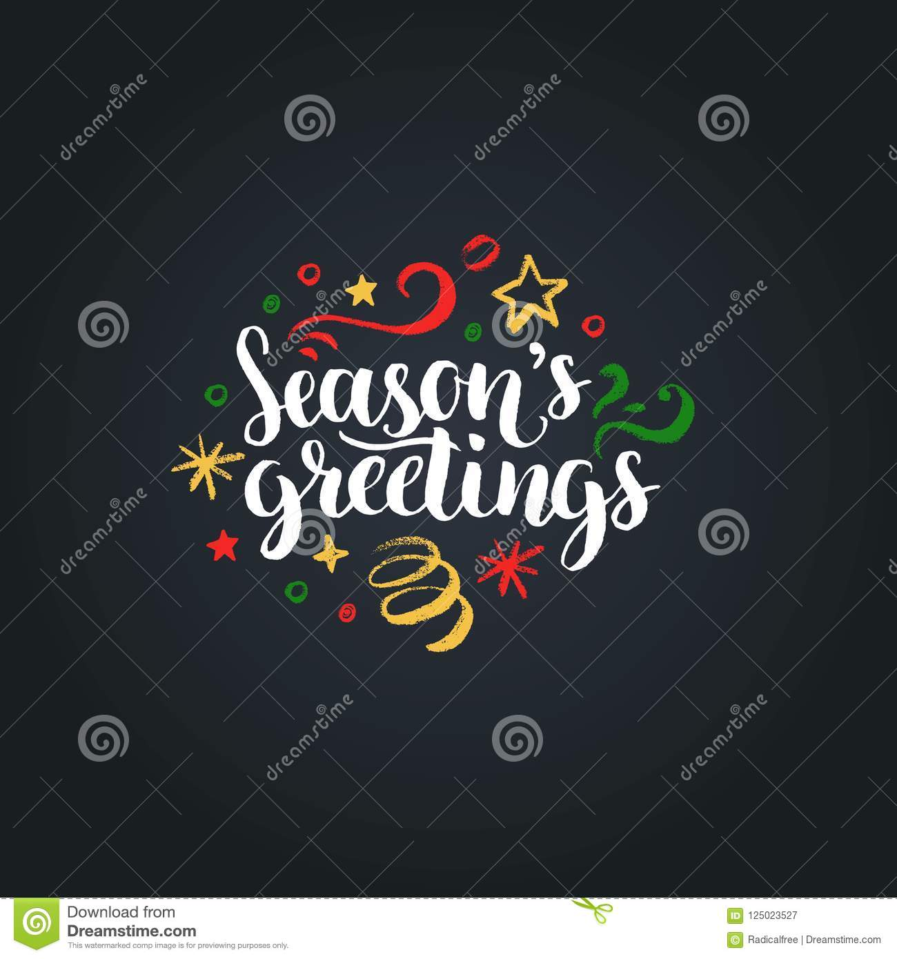 Seasons greetings lettering on black background vector hand drawn download seasons greetings lettering on black background vector hand drawn christmas illustration happy holidays m4hsunfo