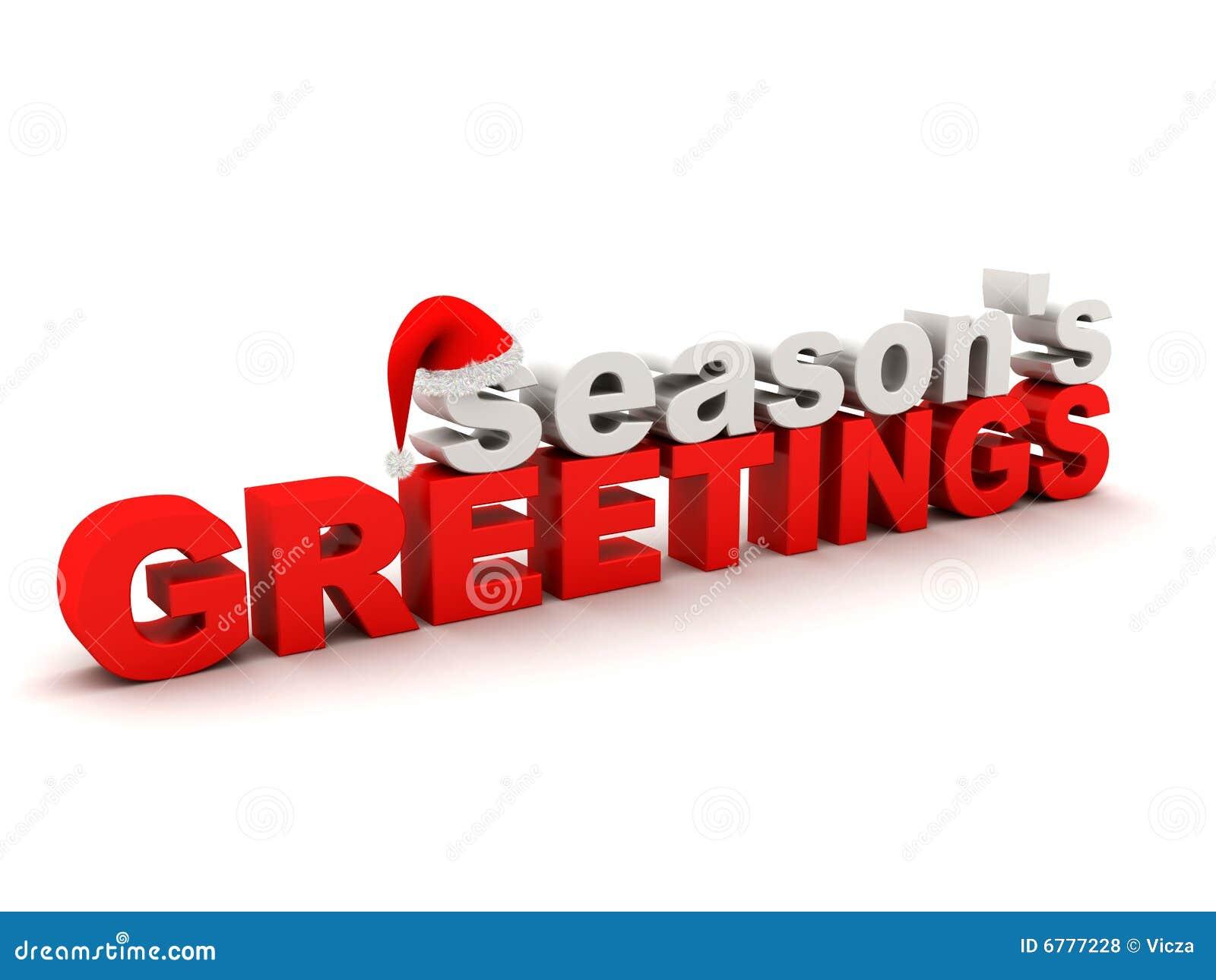 Seasons Greetings Text Royalty Free Stock Photos Image