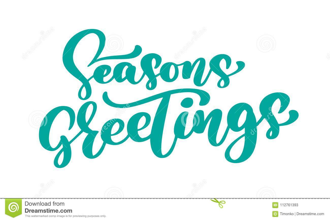 Seasons greetings text calligraphy vector illustration hand drawn seasons greetings text calligraphy vector illustration hand drawn elegant modern brush lettering of isolated on white kristyandbryce Images