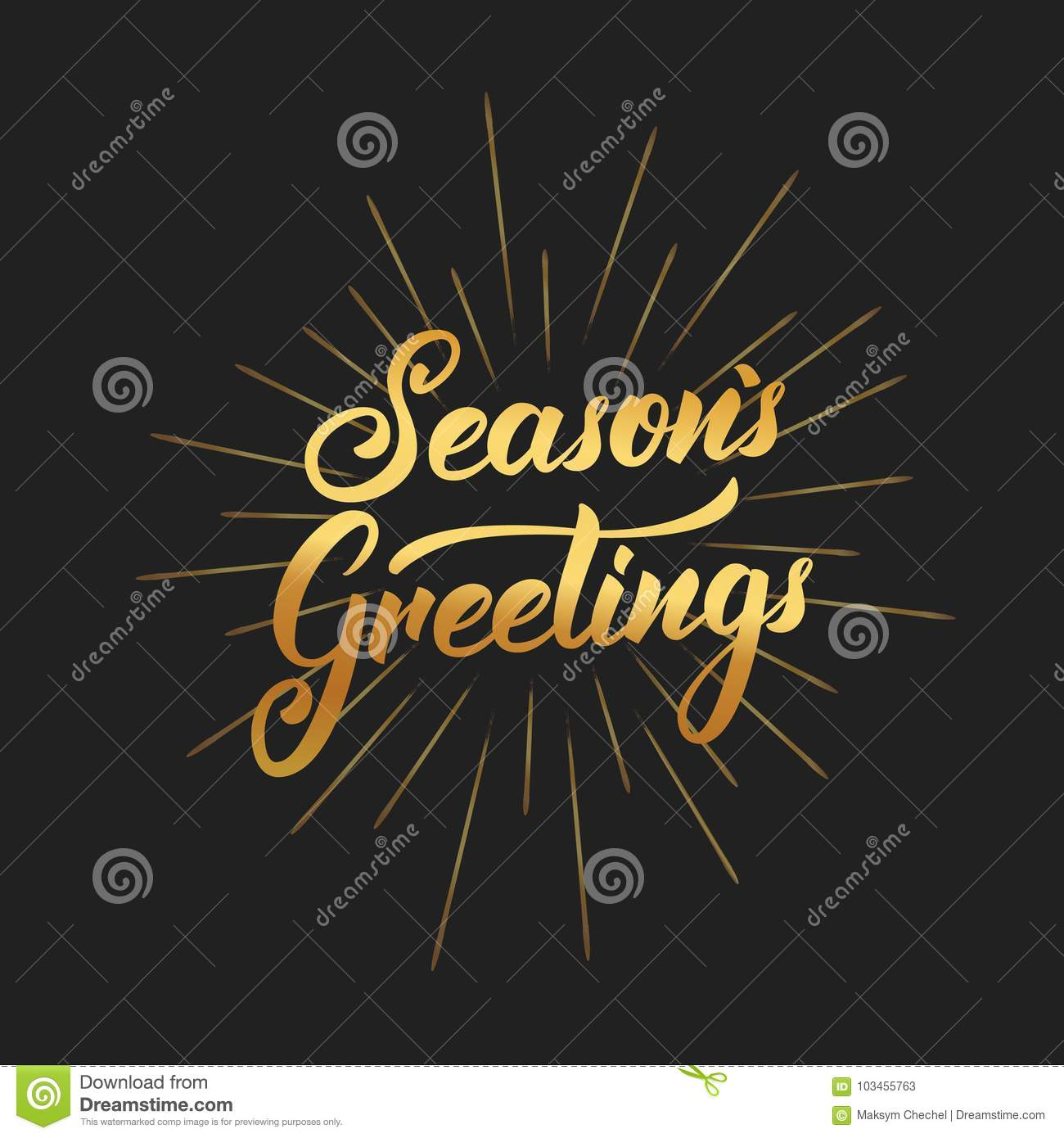 seasons greetings text lettering design christmas and new year greeting typography of gold gradient and