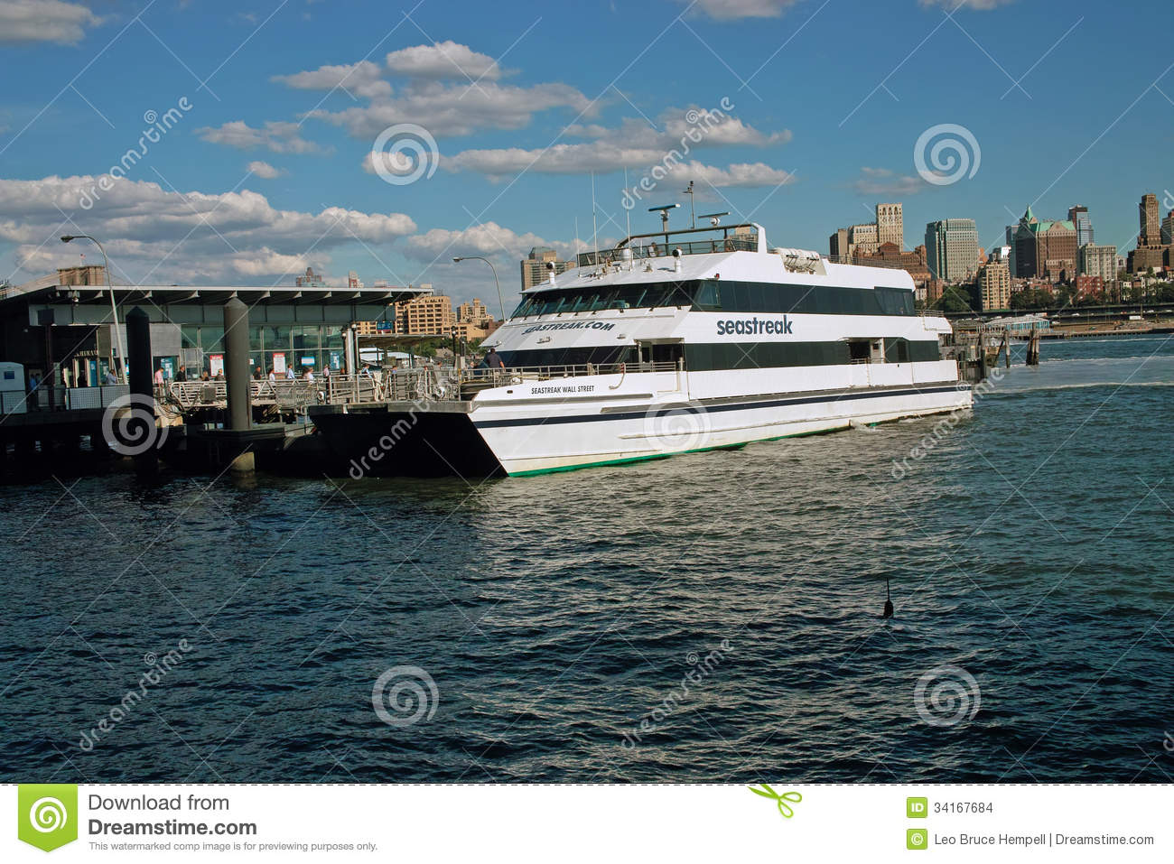 Seastreak Ferry, New York City  USA Editorial Stock Image