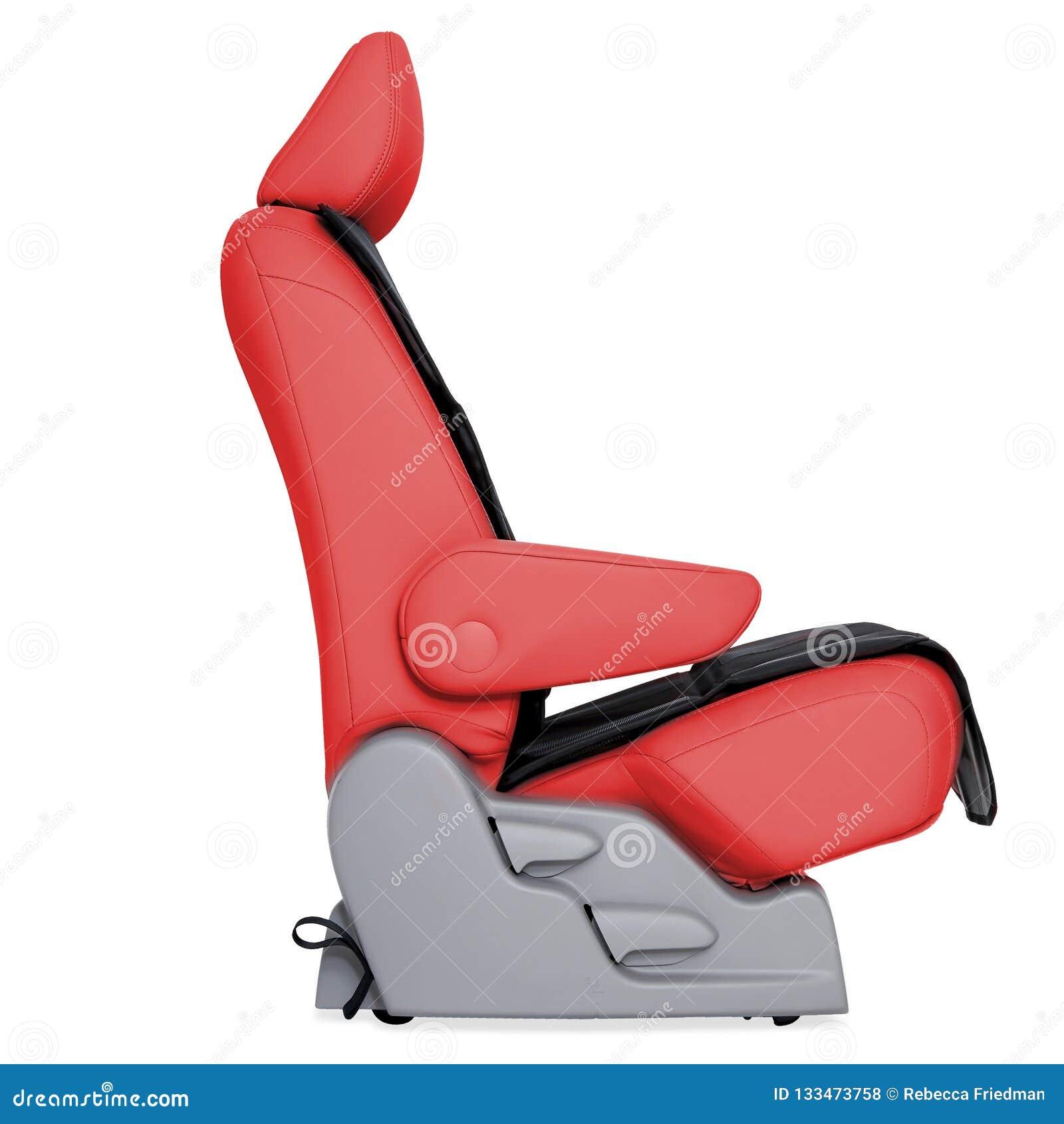Seat en cuir rouge de voiture