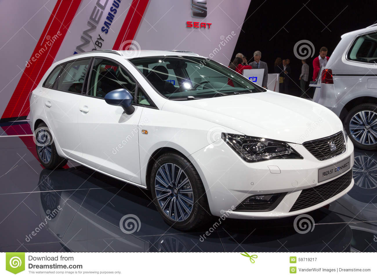 seat ibiza st connect editorial photography image of 2015 59719217. Black Bedroom Furniture Sets. Home Design Ideas