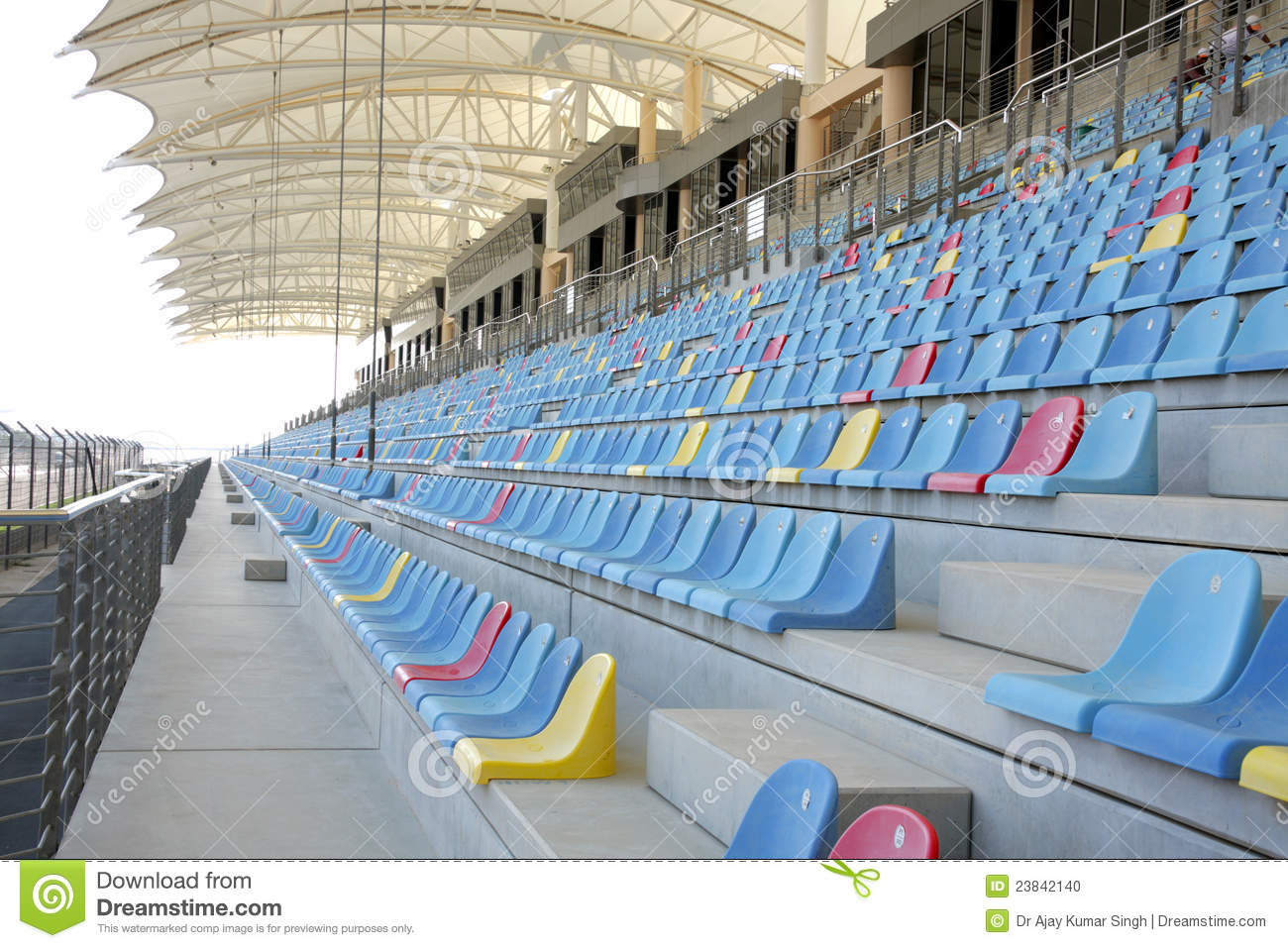 Seating Arrangment In Main Grandstand Of BIC Stock Photo ...