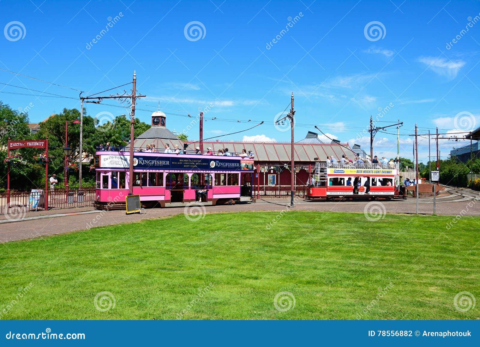 Seaton tram station.