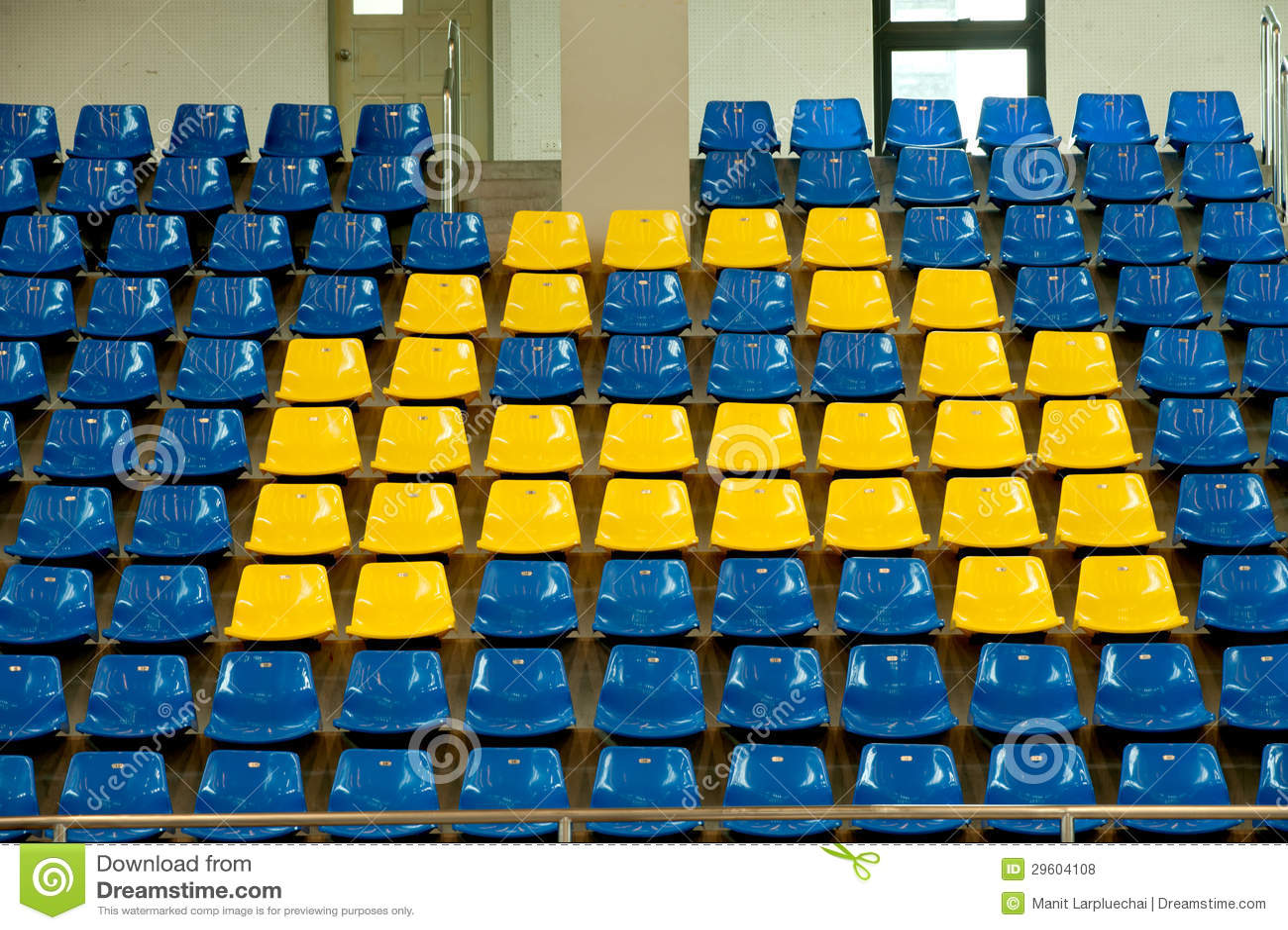 Seats In Basketball Stadium Stock Photo Image Of Empty