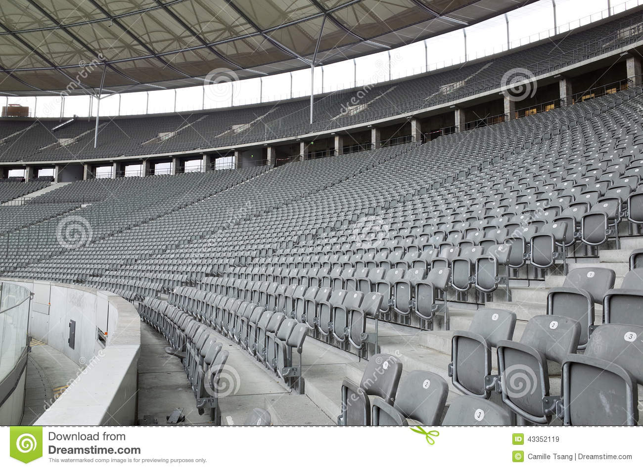 seats at the berlin olympiastadion editorial stock image image 43352119. Black Bedroom Furniture Sets. Home Design Ideas