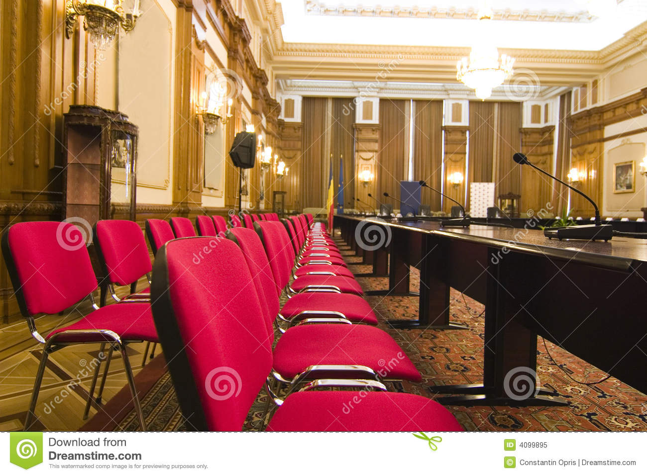 Seats in conference room