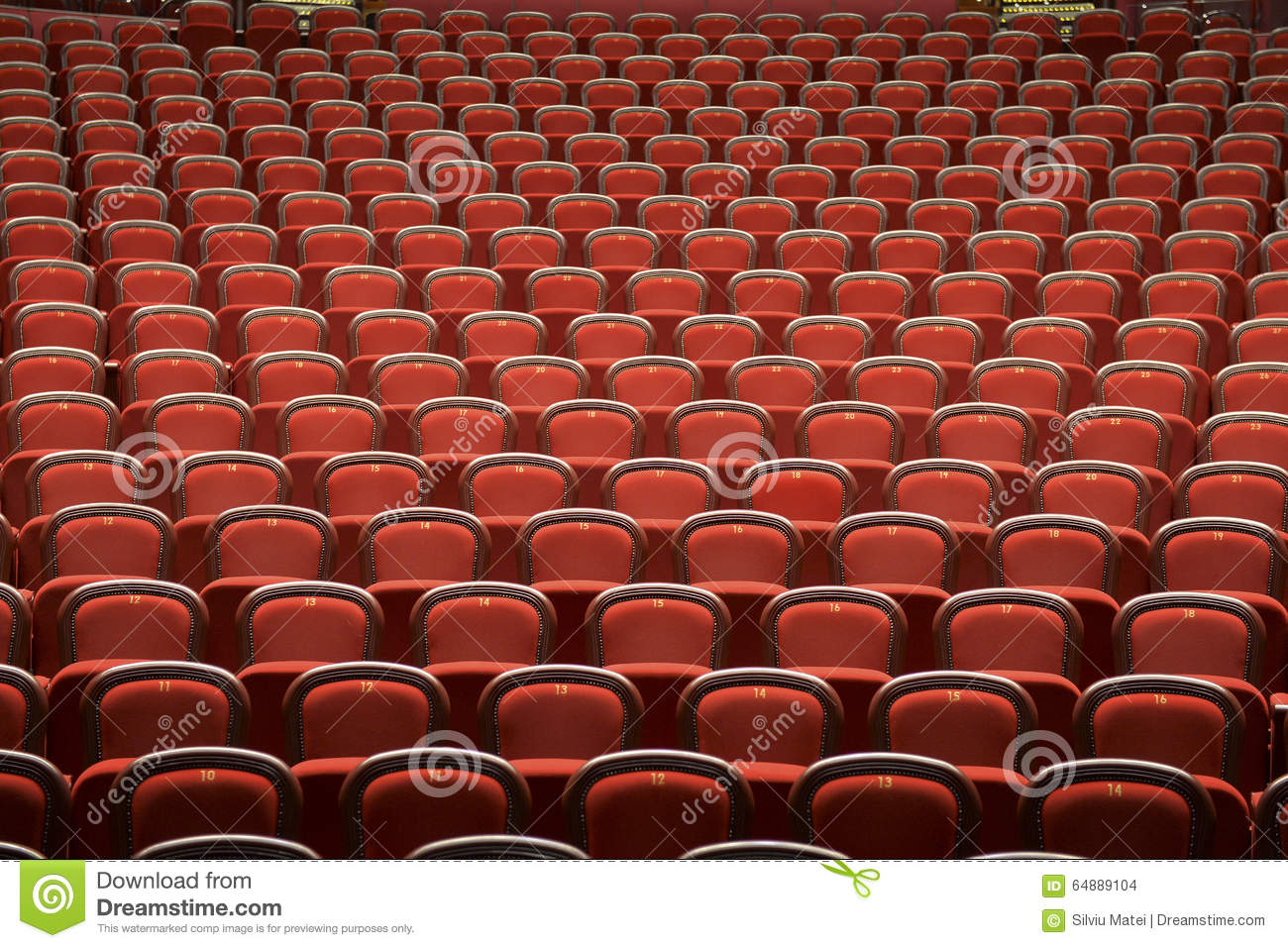 Theatre Chair Stock Image Cartoondealer Com 1288783