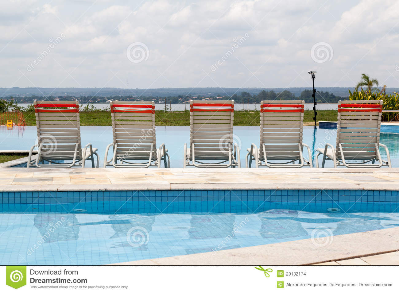 Seats In A Pool Stock Images Image 29132174