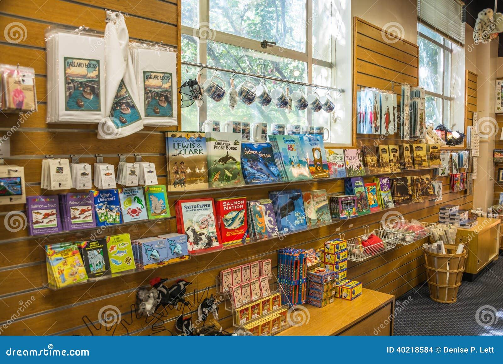 fa7daffe4879f Seattle Ballard Locks Tourist Gift Shop Souvenirs Editorial Stock ...