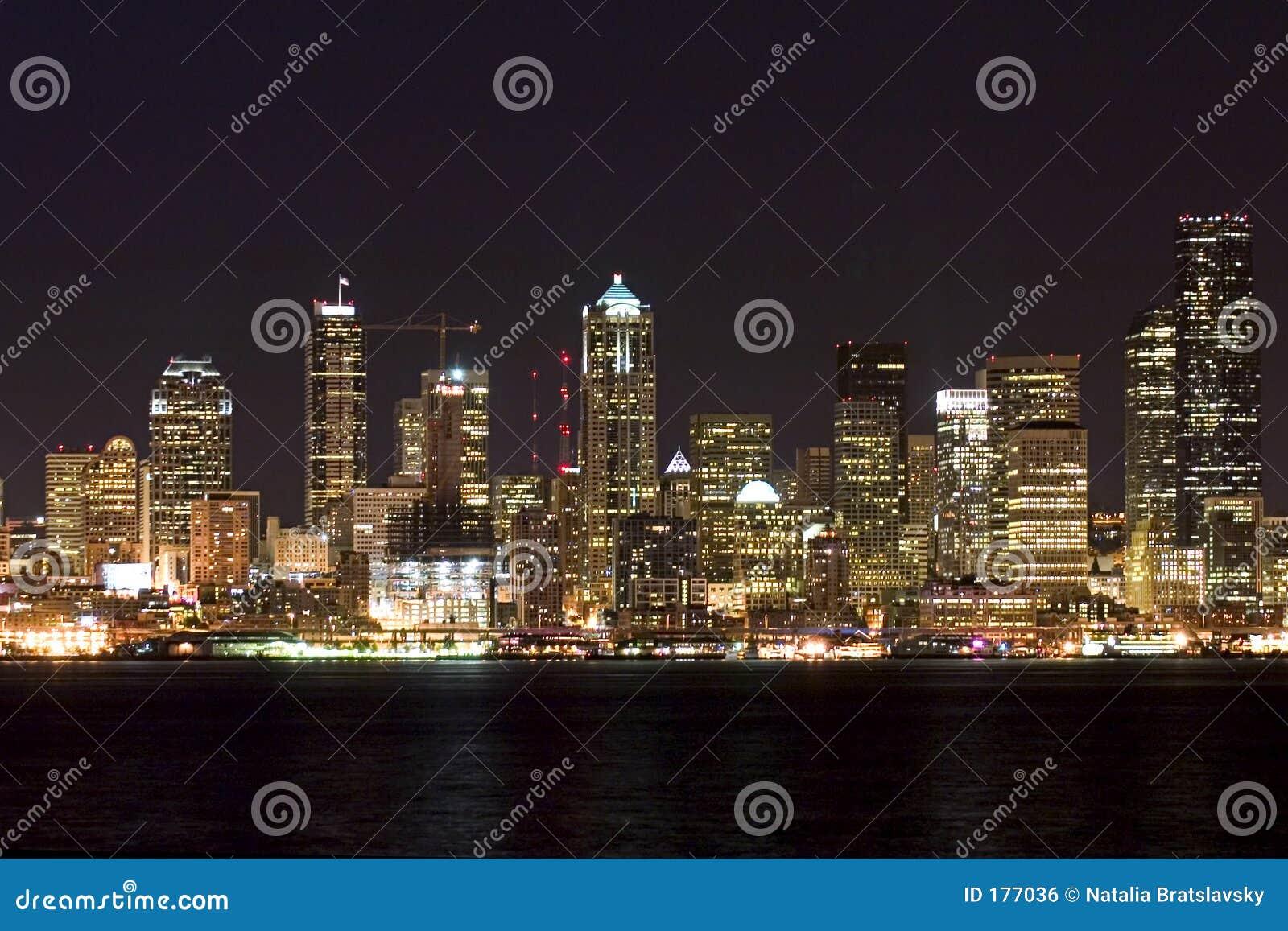 Seattle en la noche