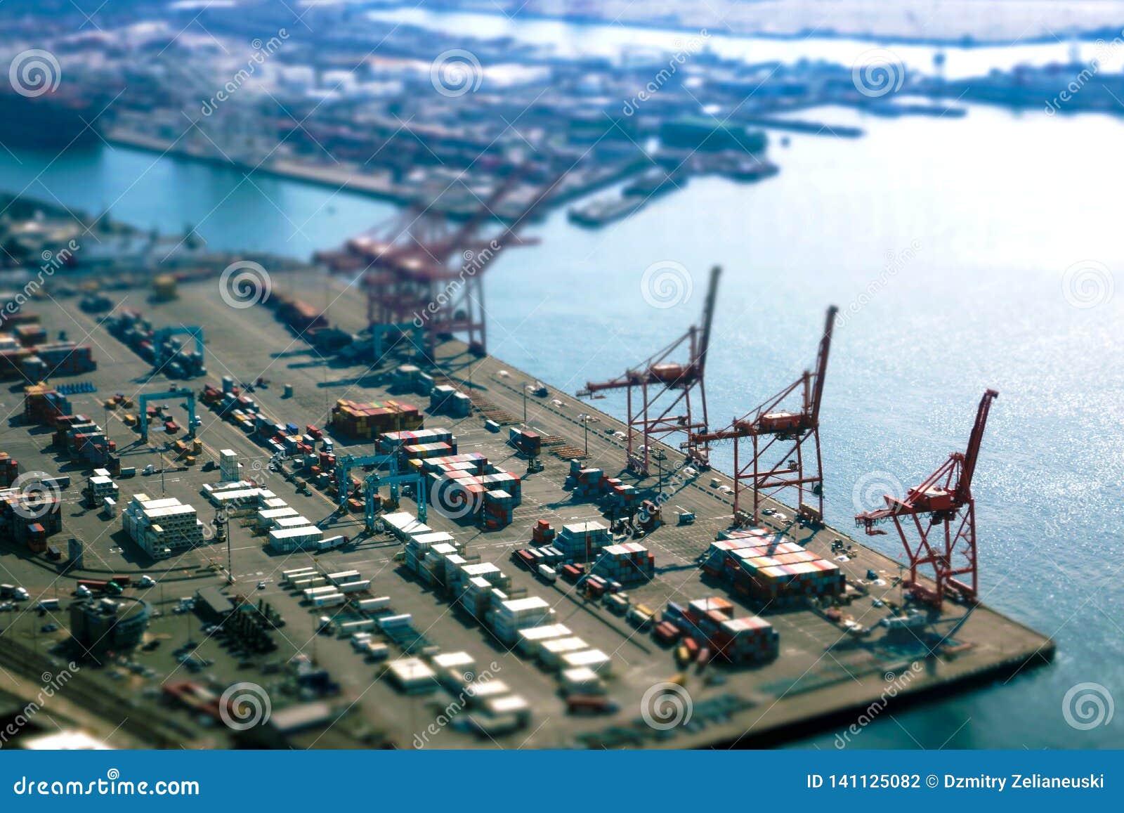 Seattle, Etats-Unis, le 31 août 2018 : Port de Seattle le long de Puget Sound, vue de Smith Tower