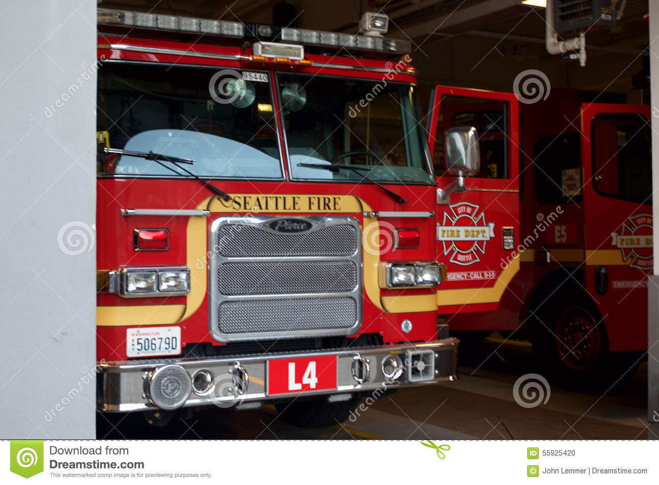 Seattle Fire Truck editorial image  Image of medicine - 55925420