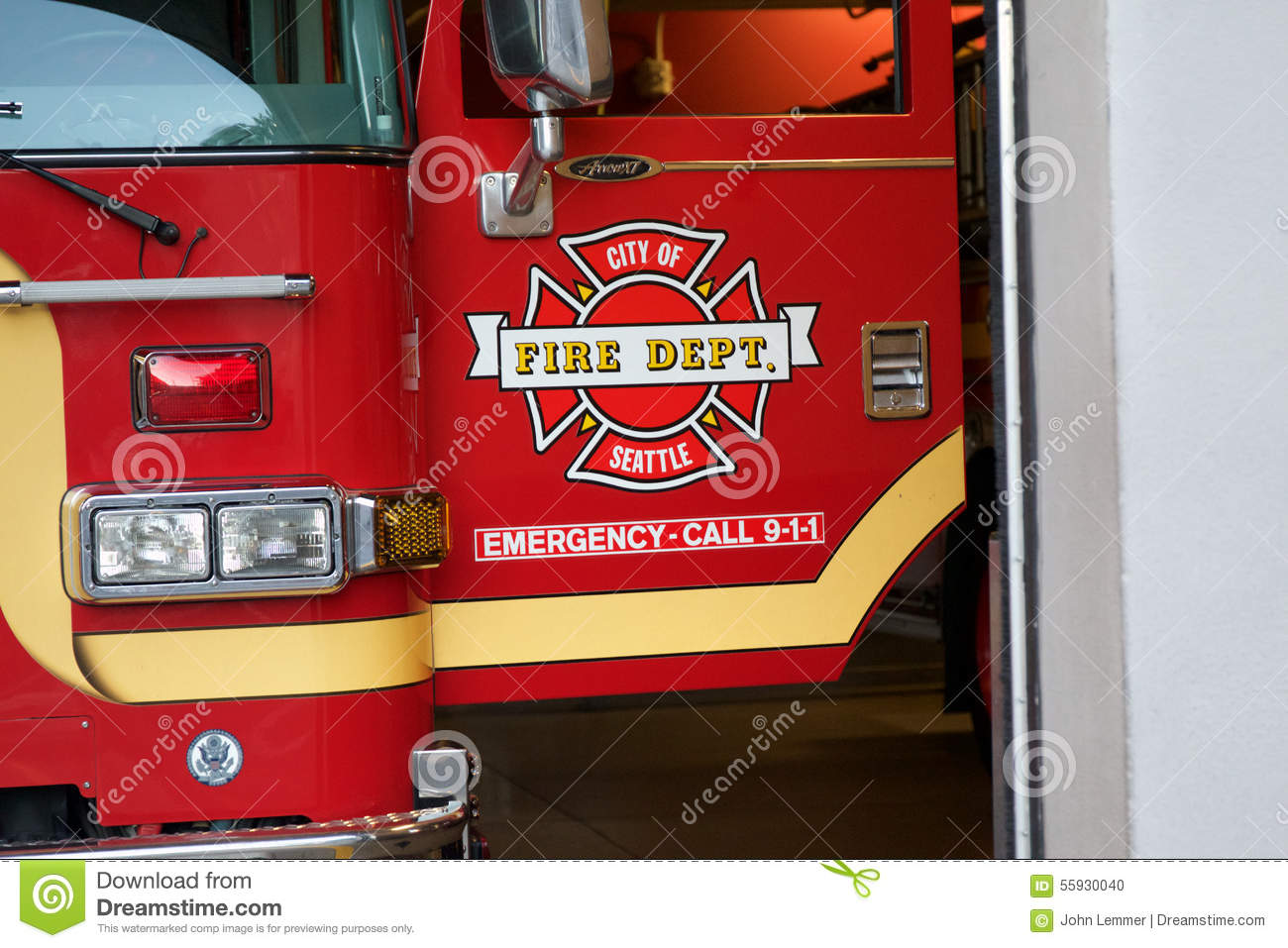 Seattle Fire Truck editorial image  Image of danger, hospital - 55930040