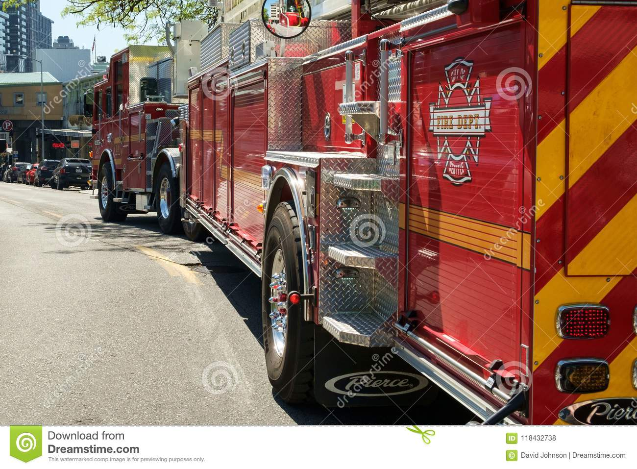 Seattle fire truck editorial stock photo  Image of vehicle